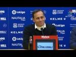 Rueda de prensa de  Fran Fernández tras el AD Alcorcón vs Málaga CF (1-0)