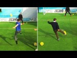 Zola assists the Chelsea fans!   Soccer AM Volley Challenge