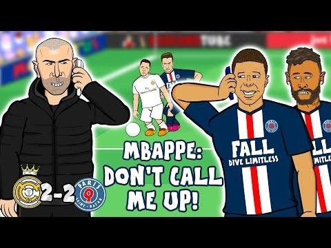 Zidane Loves Mbappe Real Madrid Vs Psg 2 2 Parody Goals