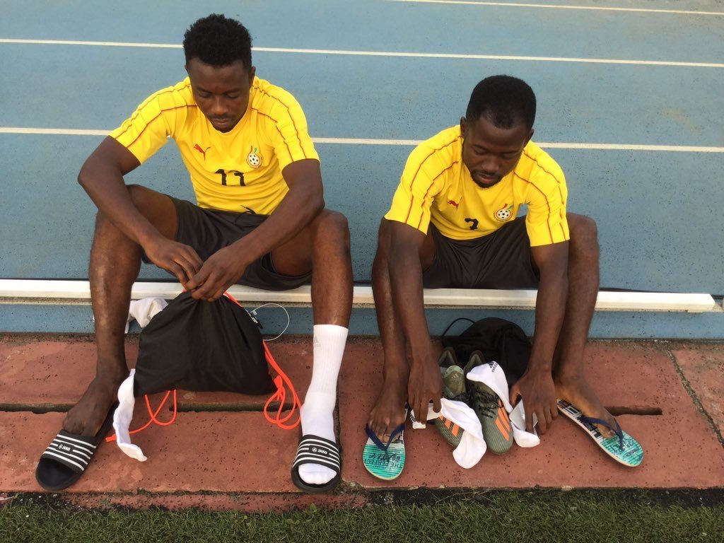 PHOTOS: Black Stars hold first training in São Tomé ahead 2021 AFCON qualifier