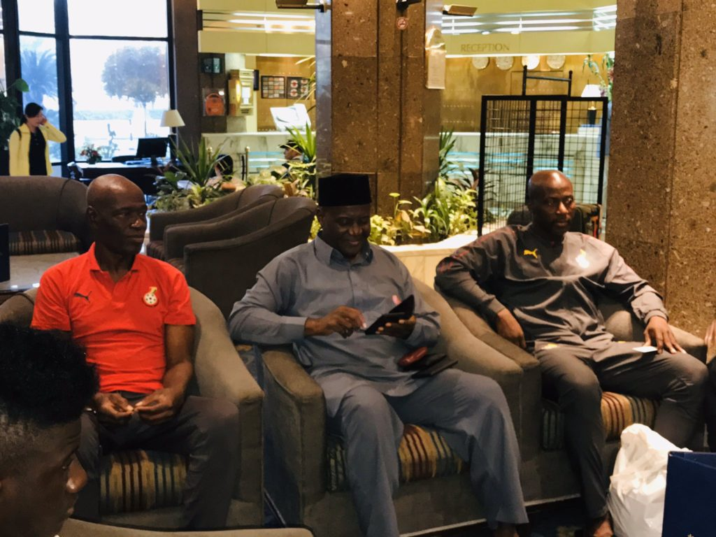VIDEO: Ghana's ambassador to Egypt visit to Black Meteors camp in Cairo