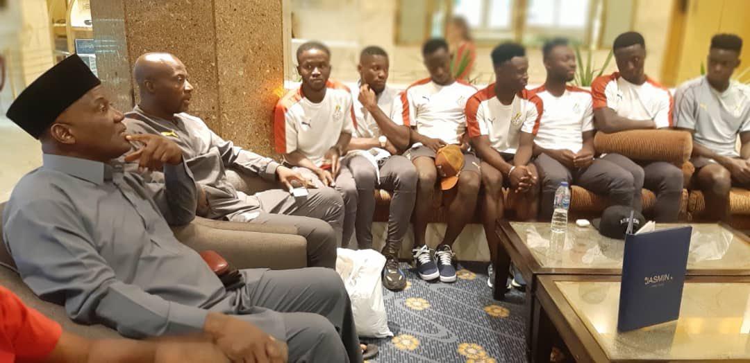 Ghana's ambassador to Egypt assures Black Meteors of support