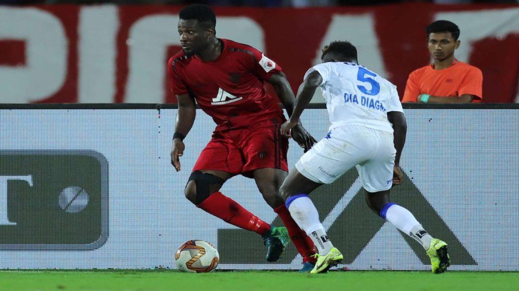 Asamoah Gyan suffers injury in NorthEast United win over Hyderabad FC