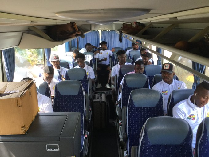 Video: Black Stars players depart from Accra to Cape Coast for South Africa AFCON clash