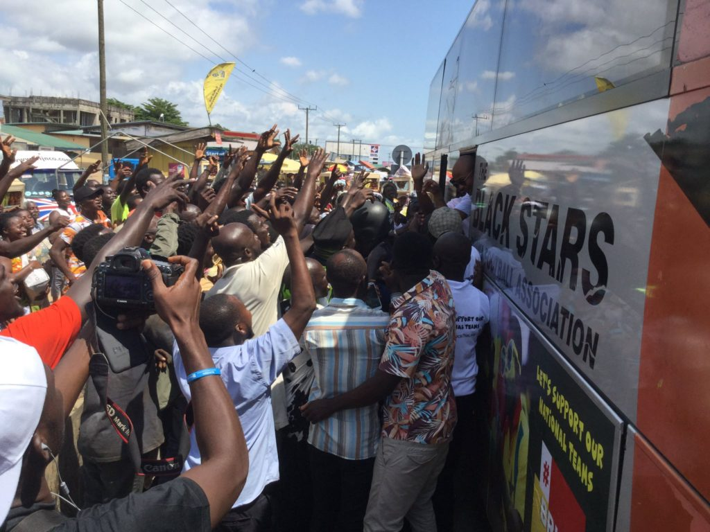#BringBackTheLove campaign catches fires as fans mob Black Stars in Winneba, Mankessim