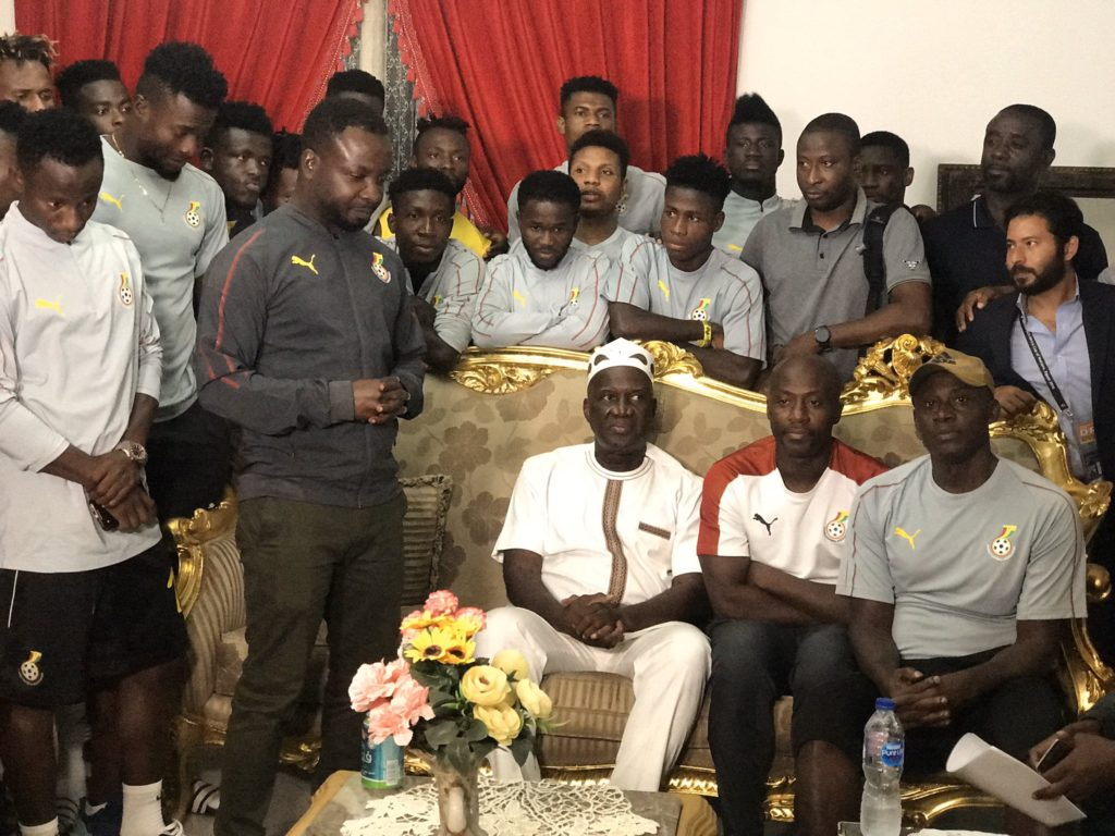 PHOTOS: Ghana's ambassador to Egypt HE Winfred Nii Okai Hammond urges Black Meteors to strike gold against Ivory Coast