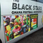 PHOTOS: Black Stars bus rebranded to #BringBackTheLove for Cape Coast trip