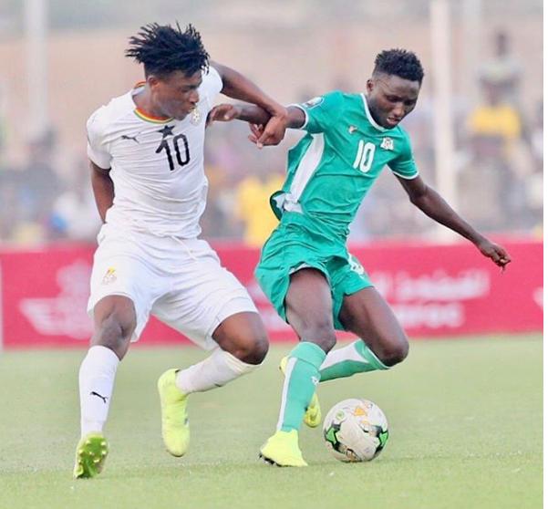 Teenage prodigy Mohammed Kudus scores cracking goal on Ghana debut