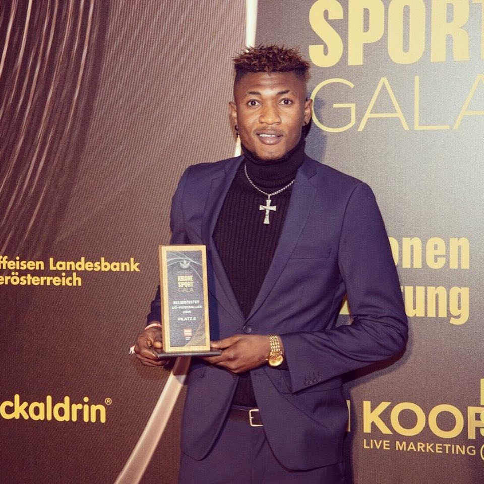 SV Reid star Kennedy Boateng wins award in Austria