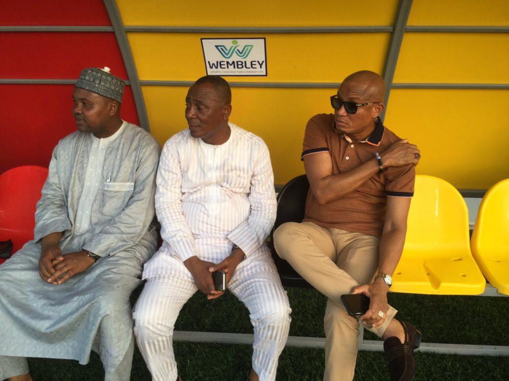 Madina MP Abubakar Boniface, Zongo Minister Dr. Mustapha Hamid watch Black Stars train