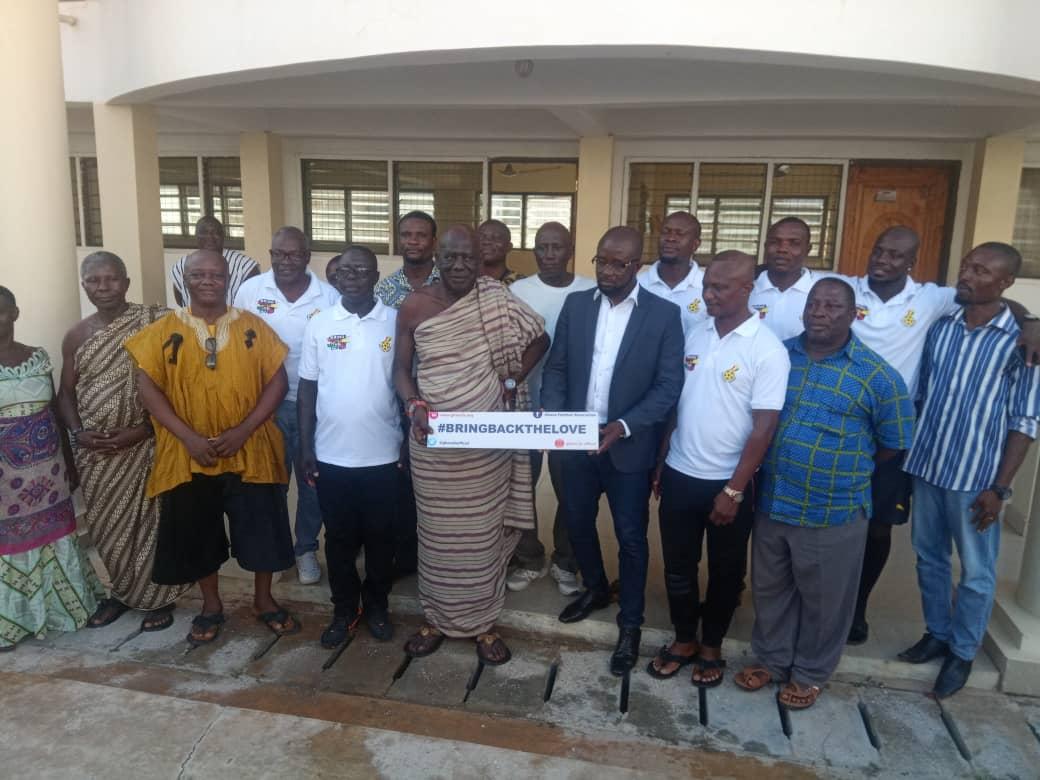 GFA President Kurt Okraku meets Oguaaman Hene ahead of Black Stars game in Cape Coast