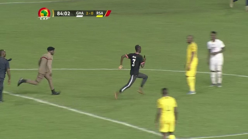 Pitch invader in Ghana-South Africa game charged with unlawful entry and offensive character