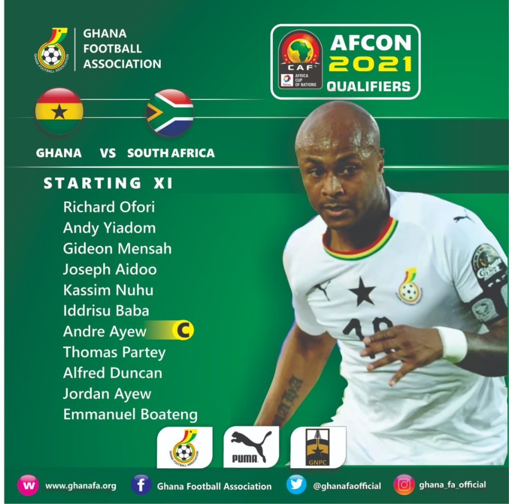 WATCH LIVE: Ghana v South Africa in 2021 AFCON Qualifier