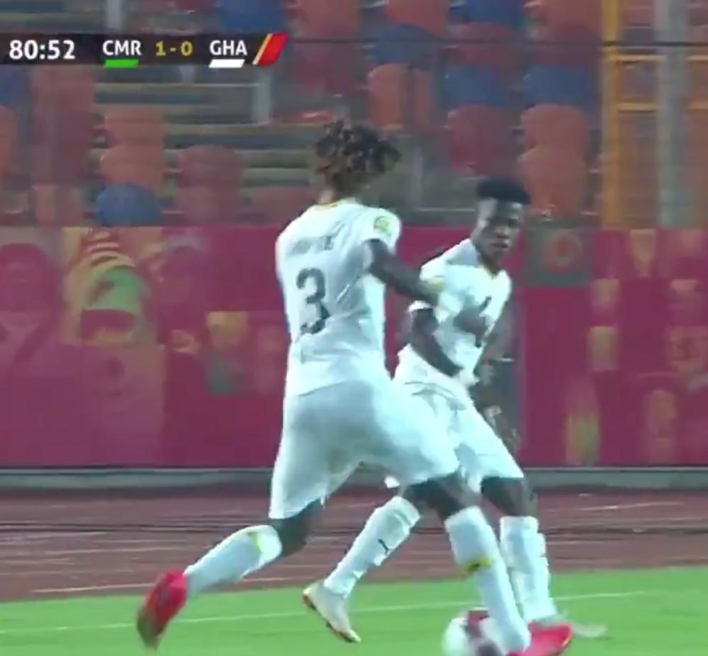 Trending video: Edward Sarpong destroys Cameroon\'s Eric Mbu Ayuk at 2019 CAF U23 Cup of Nations