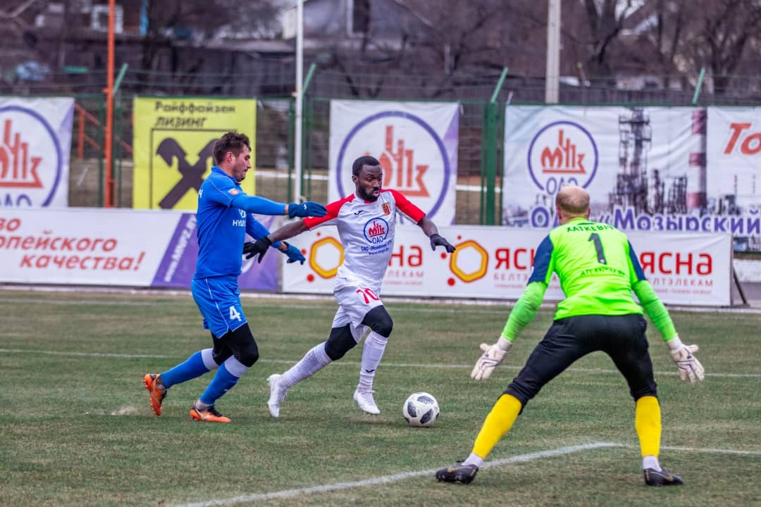 Ghanaian forward Dennis Tetteh nets winner for Slavia Mozyr in Belarus