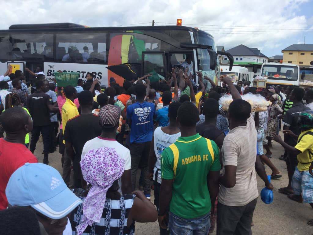 PHOTOS: Black Stars gets massive love in Winneba, Makessim en route to Cape Coast for South Africa clash