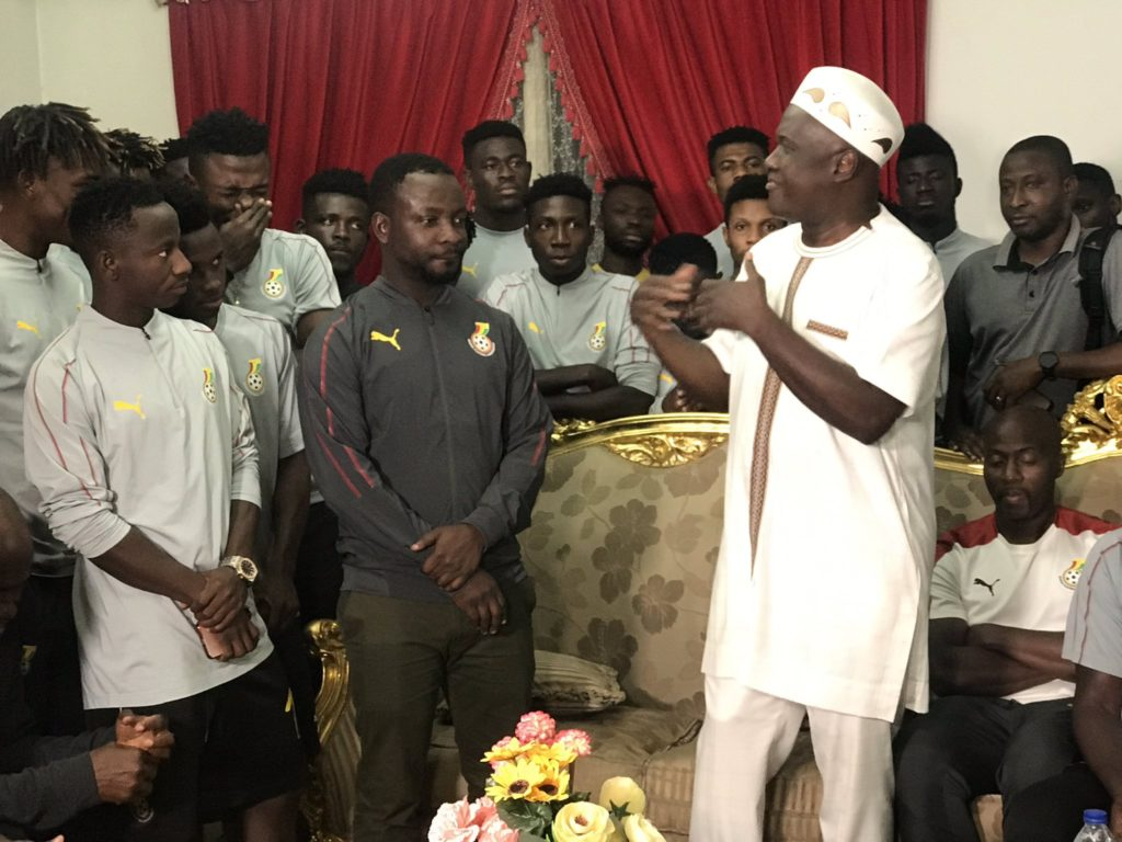 VIDEO: Ghana's ambassador to Egypt HE Winfred Nii Okai Hammond hosts Black Meteors ahead of Ivory Coast clash