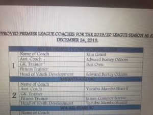 Report on Ghana coaches