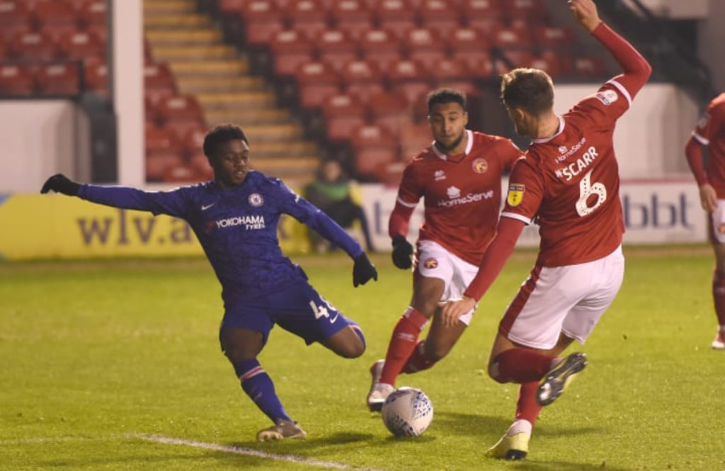 Ghanaian teen Tariq Lamptey's brace not enough as Chelsea exit EFL Trophy after Walsall defeat