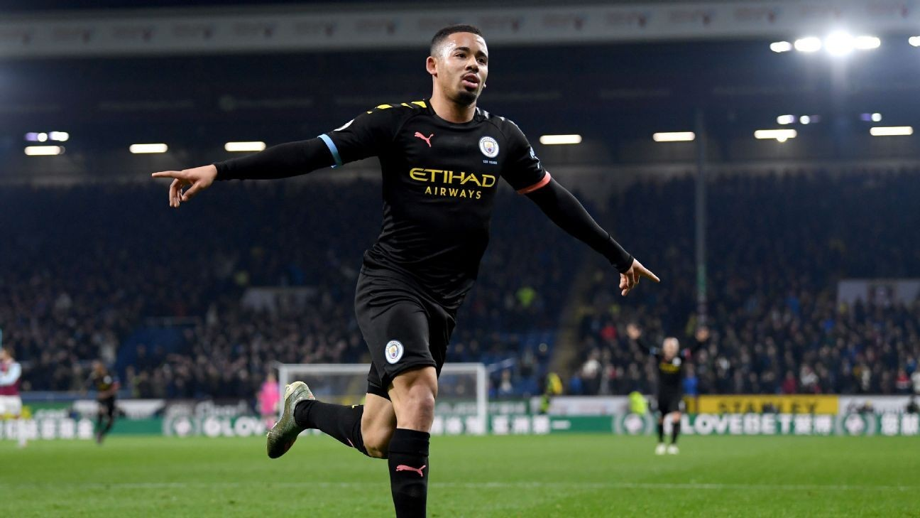Manchester City reclaim second place in table with win at Burnley