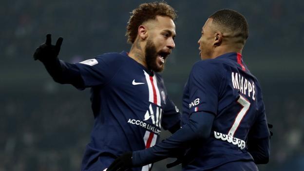Paris St-Germain 2-0 Nantes: Kylian Mbappe and Neymar score to extend Ligue 1 lead