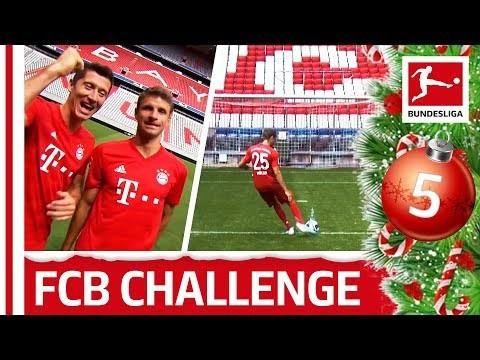 Lewandowski, Müller & Co. Crossbar Bottle Flip Challenge - Bundesliga 2019 Advent Calendar 5