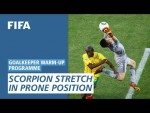 Scorpion stretch in prone position [Goalkeeper Warm-Up Programme]