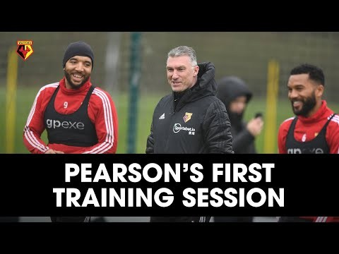 NIGEL PEARSON'S FIRST TRAINING SESSION AS WATFORD HEAD COACH!