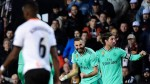 Real Madrid level late with Valencia after Courtois header leads to Benzema equaliser