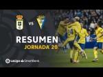 Resumen de Real Oviedo vs Cádiz CF (0-2)