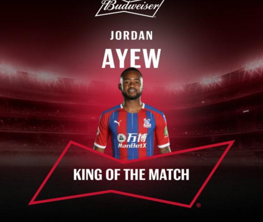Jordan Ayew named MoTM after hitting jaw-dropping strike for Crystal Palace against West Ham United