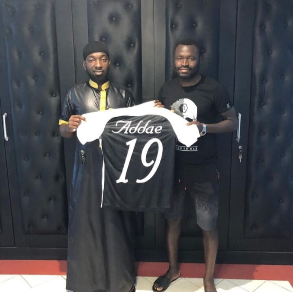 Ghana's Bright Addae dedicates first Juve Stabia goal to Afro-Arab Group Chairman