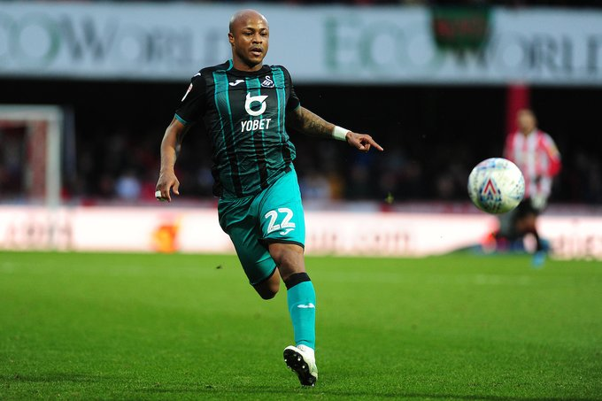 Majority of Swansea City fans hope Andre Ayew wins club's Player of the Season gong