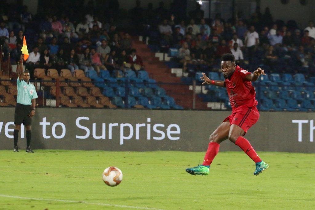 Asamoah Gyan rescues point for NorthEast United FC on injury return against Karela Blasters