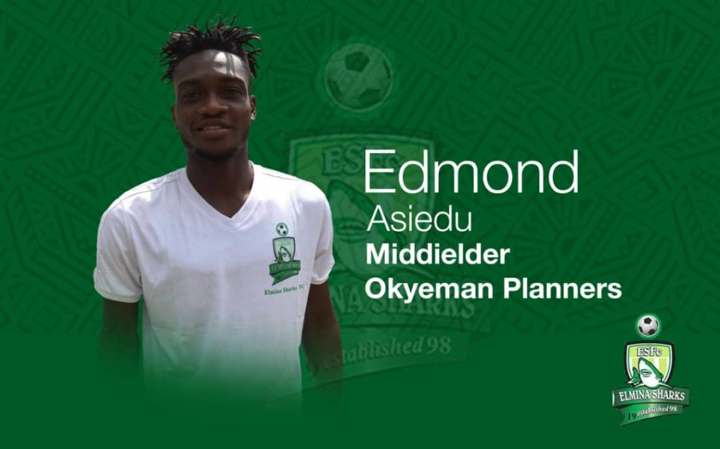 Elmina Sharks confirm signing of Edmond Asiedu