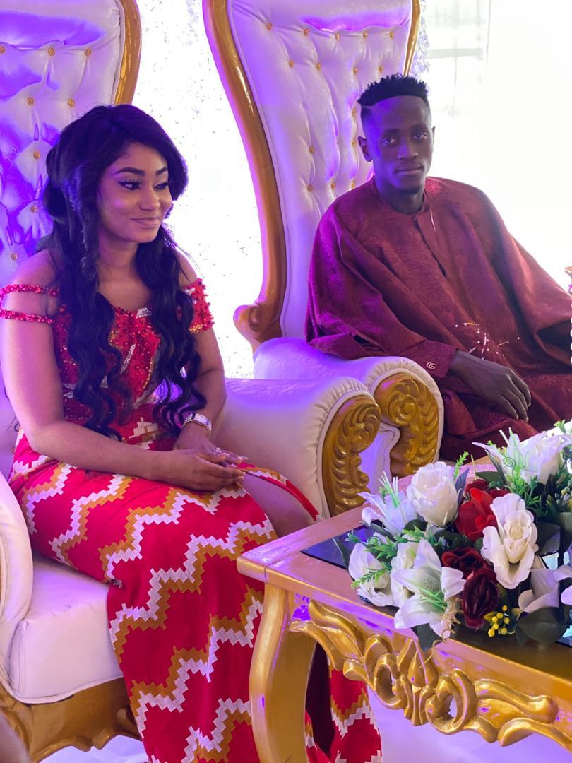 VIDEO +PHOTOS: Black Stars Striker Emmanuel Boateng weds Girlfriend Barbara in a beautiful ceremony