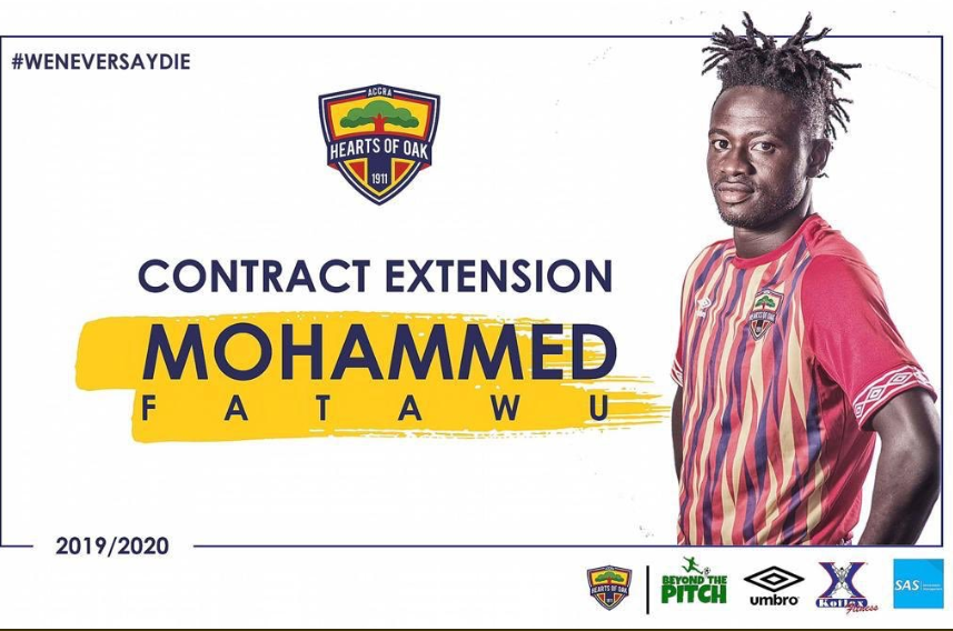 Fatawu Mohammed pens new deal with Hearts of Oak