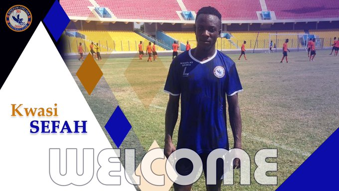 Berekum Chelsea sign Kwesi Sefah Biney on a three deal