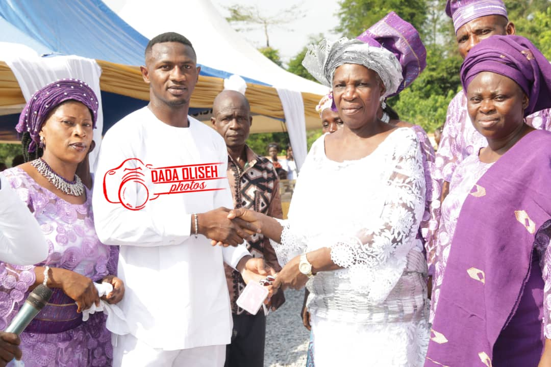 Nicholas Opoku gifts granny with a house, car and church on her 65th birthday