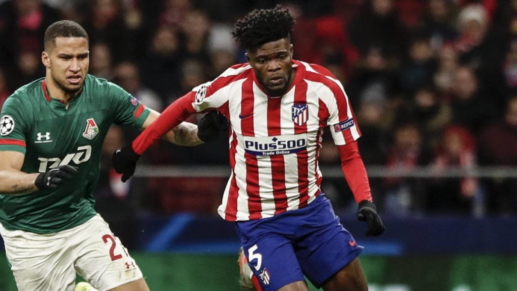 Atletico Madrid star Thomas Partey completes 99 passes out of 108 against Lokomotiv Moscow