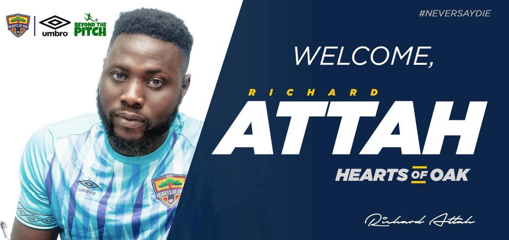 OFFICIAL: Hearts of Oak snap up goalkeeper Richard Attah
