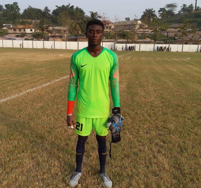 WAFA goalie Ferdinand Acquah named Man of the Match in victory against Karela