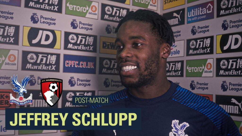 Jeffrey Schlupp delighted to score in Crystal Palace's back to back Premier League wins