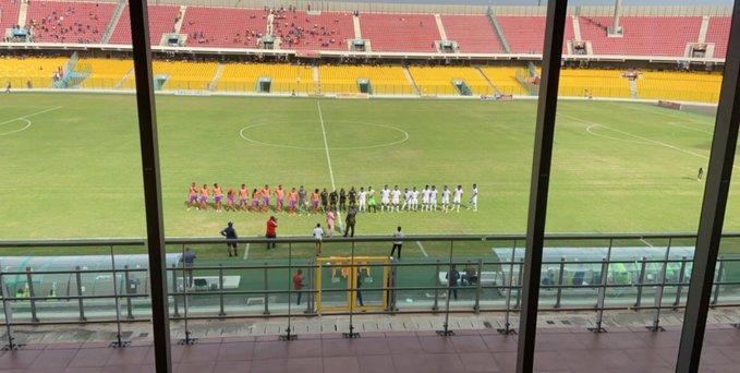 Former Newcastle United star Titus Bramble watched Hearts Oak's defeat to Berekum Chelsea in Ghana