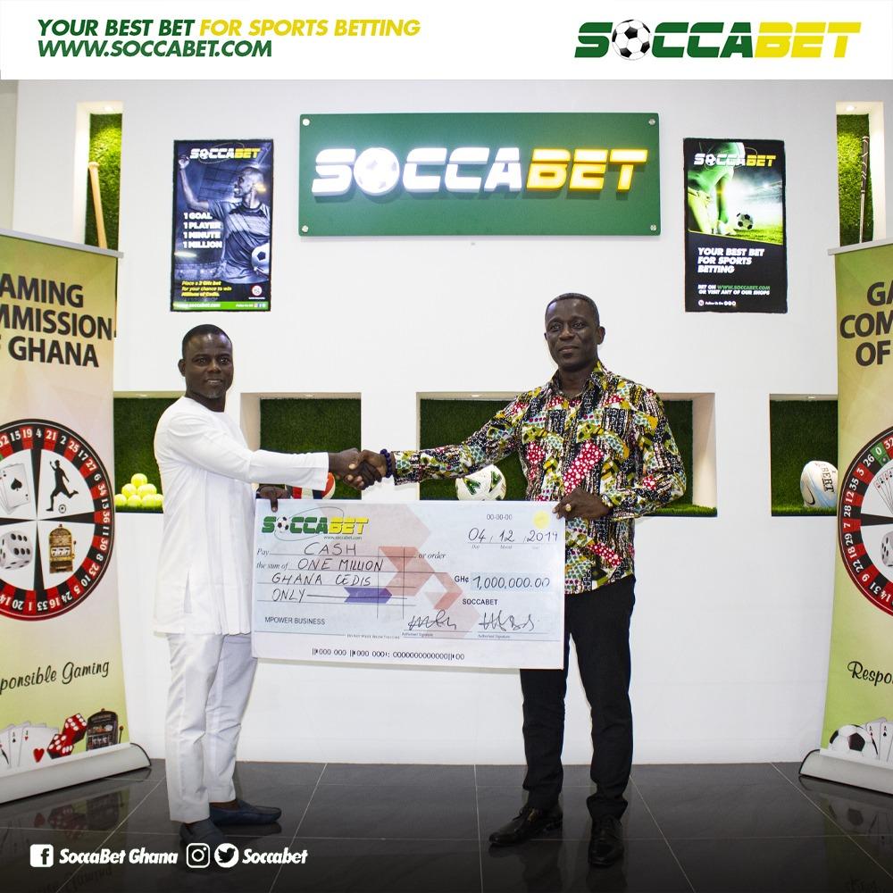 Michael Kpogli wins bet of GH1 million from Soccabet
