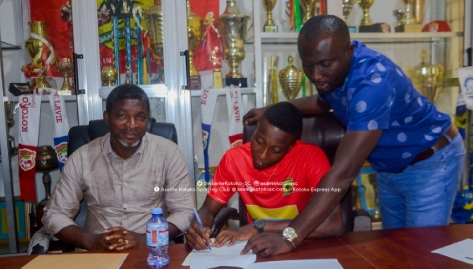 Kotoko coach Maxwell Konadu eulogizes Felix Annan after goalie pens contract extension