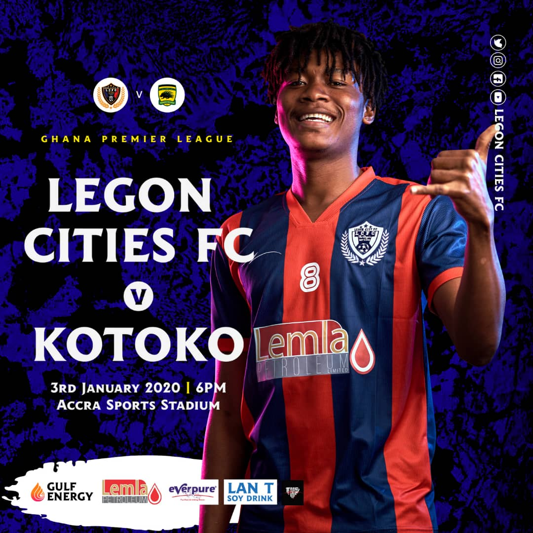 2019/20 Ghana Premier League: Legon Cities FC vs Asante Kotoko clash confirmed for Friday night kickoff