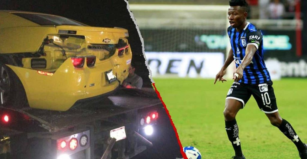 Photos: Ghana football star Clifford Aboagye in serious motor accident in Mexio