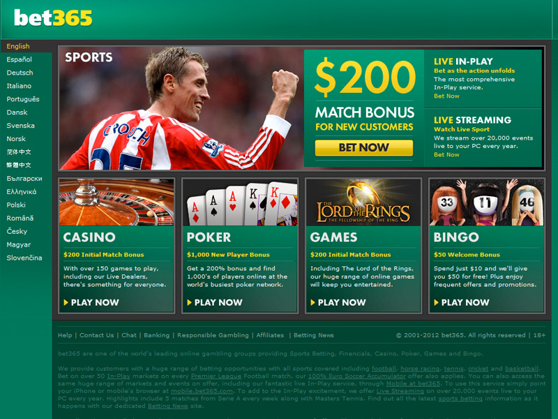 Bet365 news betting football cards raceclubs betting