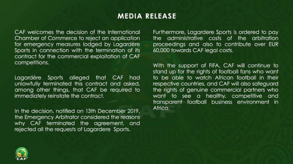 CAF statement